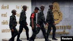泰國曼谷據說關押兩名爆炸案嫌疑人的軍營