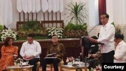 Presiden Joko Widodo memimpin Sidang Kabinet Paripurna terakhir di Istana Kepresidenan Jakarta, Kamis (3/10) (Courtesy: Setpres RI).