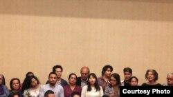 Conferencia de los familiares de manifestantes detenidos en el marco de las protestas anti gubernamentales. Denuncian que las reclusas han sido torturadas por hombres encapuchados. Noviembre 7 de 2018. Foto: Donaldo Hernández - VOA.
