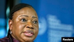 ICC Prosecutor Fatou Bensouda is seen at a news conference before the trial of Kenya's Deputy President William Ruto in The Hague in this September 9, 2013 file photo.