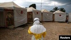 Centre de traitement du virus Ebola à Beni, en RDC, le 30 mars 2019.