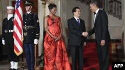 ABŞ prezidenti və birinci xanım Çin prezidentinin şərəfinə rəsmi ziyafət təşkil edib