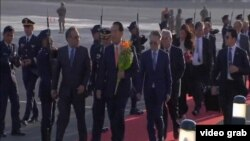 台灣代表團到達秘魯參加APEC (視頻截圖)