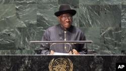 尼日利亚总统古德勒克.乔纳森(资料照)