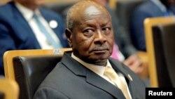 FILE - Ugandan President Yoweri Museveni attends an African Union summit in Addis Ababa, Ethiopia, Jan. 28, 2018.