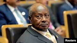 FILE PHOTO: Ugandan President Yoweri Museveni attends an African Union summit in Addis Ababa, Ethiopia, Jan. 28, 2018.