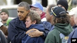 Obama agendera intara ya New Jersey yasinzikajwe n'igihuhusi Sandy