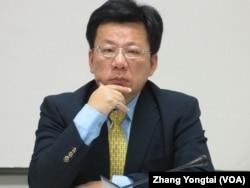 民進黨立委 李俊邑(美國之音 張永泰拍攝)