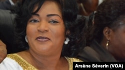La ministre de la Promition de la Femme, Inès Nefer Ingani a été démise de ses fonction, à Brazzaville, le 17 septembre 2019. (VOA/Arsène Séverin)