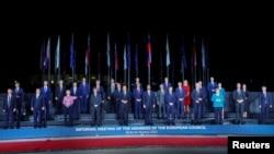 Lideri zemalja Zapadnog Balkana i Evropske unije prisustvuju neformalnom sastanku pred početak samita EU-Balkan, na Brdu kod Kranja, Slovenija, 5. oktobra 2021. (Foto: Rojters, Borut Živulović)