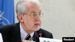 Ông Paulo Pinheiro, người đứng đầu Ủy ban Điều tra về Syria của Liên Hiệp Quốc.