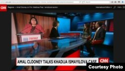 Kluni CNN-in efirində Xədicə İsmayıldan danışdı