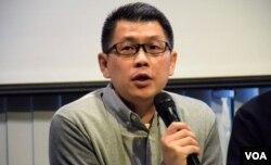 香港進步教師同盟成員陳智聰。(美國之音湯惠芸攝)