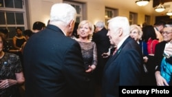 Sister Cities International President and CEO Mary D. Kane with former U.S. Senator Richard Lugar at the organization's 2015 Diplomatic Gala held at the U.S. Chamber of Commerce Hall of Flags, Washington D.C., March 10, 2015.