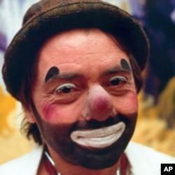 Michael Christensen as his hospital clown persona, 'Dr. Stubs.'
