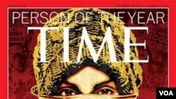 """La decisión editorial de la revista, en escoger a """"El Manifestante"""" reconoce a quienes salieron a las calles a luchar por sus derechos."""