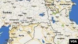 Cənubi Qafqaz və Yaxın Şərqin xəritəsi