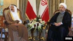 رئیس جمهور ایران و امیر کویت