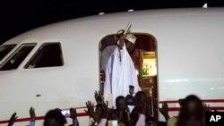 Yahya Jammeh yake barin Gambia a daren jiya.