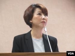 台灣執政黨民進黨立委陳亭妃。(美國之音張永泰拍攝)