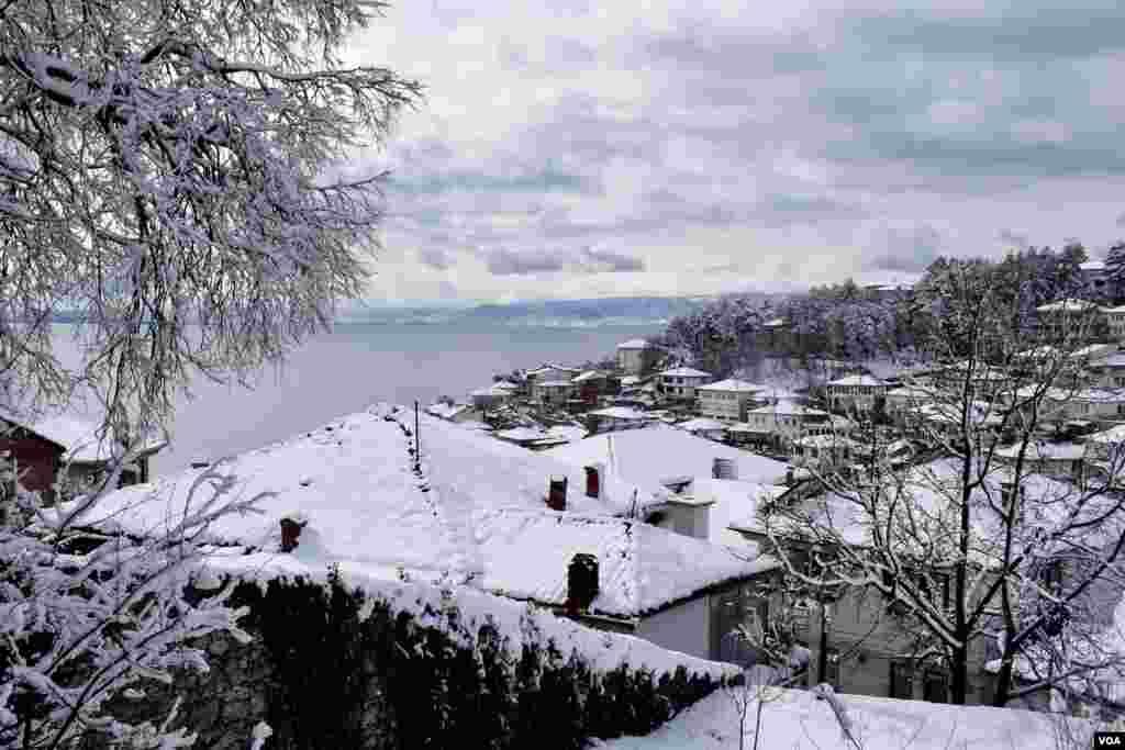 Ohrid under snow