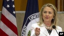 Ngoại trưởng Clinton phát biểu tại Diễn đàn toàn Thế giới các Cộng đồng nước ngoài tại Bộ Ngoại giao ở Washington, 25/7/2012
