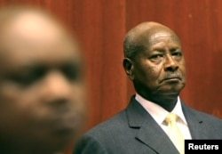Uganda's President Yoweri Museveni prepares to deliver his state of the nation address in the capital Kampala, June 4, 2015.