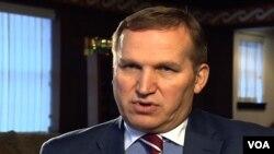 FILE - Ukraine's Ambassador to the U.S. Olexander Motsyk