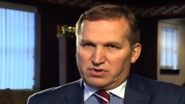 FILE - Ukraine's Ambassador to the U.S. Olexander Motsyk