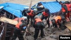 Los autoridades informaron que los deslaves de tierra en esta región de China son comunes.