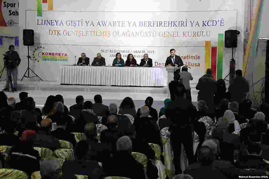 Demokratik Toplum Kongresi toplantısı, Diyarbakir 26 Aralık, 2015