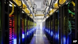 Pusat data Google di Council Bluffs, Iowa. (AP/Google, Connie Zhou)