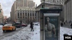La ciudad de Nueva York se recupera de la tormenta de nieve, que aunque no cumplió los pronósticos, suspendió momentáneamente gran parte de las actividades. [{Foto: Celia Mendoza, VOA].