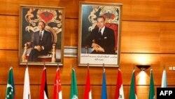 Các thành viên Liên đoàn Ả Rập họp tại Rabat, thủ đô Maroc, 16/11/2011