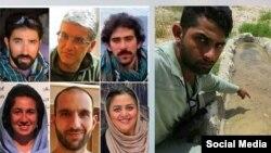 تعدادی از فعالان محیط زیست ایران که بازداشت شده اند