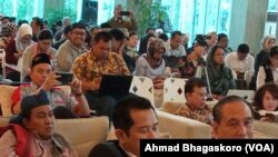 Peserta diskusi di Megawati Institute, Menteng, Jakarta Pusat, Rabu, 28 November 2018. (Foto: VOA/Ahmad Bhagaskoro)