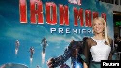 """La actriz asistió al estreno de su última película """"Iron Man 3"""" en Hollywood, el 25 de abril."""