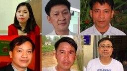 Các thành viên bị kết án của Hội Anh Em Dân Chủ: Lê Thu Hà, Trương Minh Đức, Nguyễn Trung Tôn, Nguyễn Văn Đài, Phạm Văn Trội, Nguyễn Bắc Truyển.