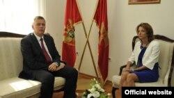 Ministri odbrane Poljske i Crne Gore, Tomaš Šemonjak i Milica Pejanović Đurišić tokom susreta u Podgorici (gov.me)