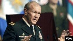 Pimpinan Gabungan Kepala Staff Angkatan Bersenjata Amerika, Jendral Martin Dempsey (File: dok).