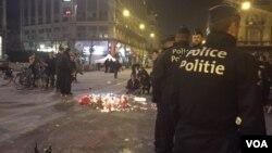 Polisi Belgia disiagakan untuk mengamankan kota Brussels pasca serangan hari Selasa (22/3) malam.