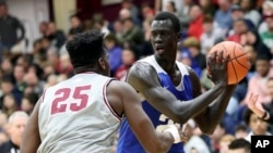 Makur Maker attended Howard University for one year. He decided to go to Howard instead of colleges that had traditionally strong basketball teams. (AP Photo/Gregory Payan, File)