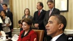 Tổng thống Hoa Kỳ Barack Obama tiếp Tổng thống Brazil Dilma Roussef tại Tòa Bạch Ốc