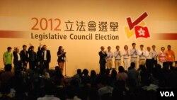 香港立法會選舉結果星期一公佈,泛民主派取得27席的關鍵少數