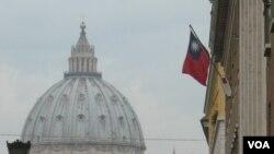 中华民国驻梵蒂冈大使馆外景(美国之音申华拍摄)