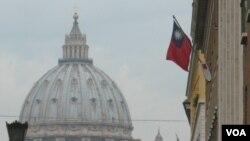 中華民國駐梵蒂岡大使館外景(美國之音申華拍攝)