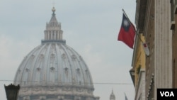 中華民國駐梵蒂岡大使館外景(資料圖片﹐美國之音申華拍攝)