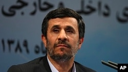Iranian President Mahmoud Ahmadinejad listens to a question during his press conference in Tehran, Iran, 29 Nov 2010