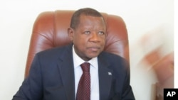 FILE - DRC Communication minister and government spokesman Lambert Mende.