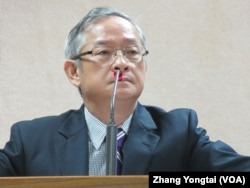 台灣執政黨國民黨立委林郁方9月25號於立法院 (美國之音張永泰拍攝)
